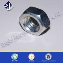 Tuerca hexagonal estándar ASME con galvanizado
