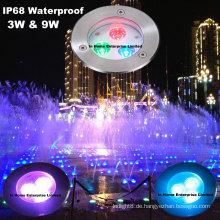 316 SS RGB Pool Licht führte IP68 Unterwasser Schwimmbad Led Licht mit DMX512