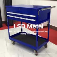 Shockproof 2 Drawer Rolling Metal Workshop Tool Cabinet