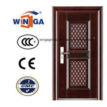Puerta de metal de seguridad de lujo competitiva (WS-117)