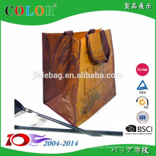 promotional pp woveb ice wine bag 6 bottles carry bag