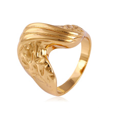 11508 venta caliente especial de joyería de damas anillo de dedo de aleación de cobre chapado en oro irregular