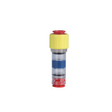 Hot sale transparent plastic pipe fitting gas-water block microduct connector