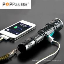 Design de banco de poder USB escondido clássico Zoom T6 lanterna LED