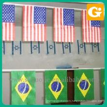 Custom hanging international flags