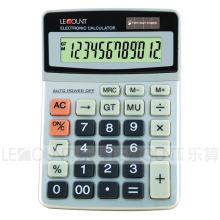 Calculadora do Office Dual Power de 12 dígitos com tampa de alumínio rígido (CA1223)