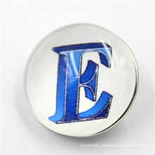 Custom Letter Fashion Resin Snap Button for Customer