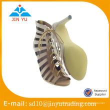 Cheap China factory price new design sandale à talons hauts du sexe