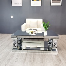 Spare Shape Silver Mirror Coffee Table Living Room