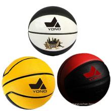 Guangzhou YONO meilleure qualité pu basketball en cuir basket pas cher en vrac basketball personnalisé