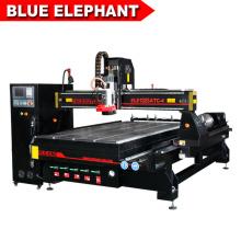 Jinan modelo en caliente 1325 cnc enrutador máquina de corte de tablero de mdf de madera para la industria de maquinaria de la carpintería
