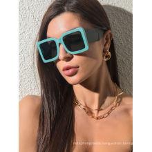 Tidal Square Personality Sunglasses Clash Color Sunglasses