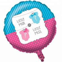 Le genre révèlent des jouets en forme de ballon de clinquant ballon en aluminium d'hélium pour la partie d'enfants