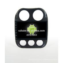 ¡Cuatro nucleos! Android 4.4 / 5.1 DVD de coche para Jeep Compass con pantalla capacitiva de 10.1 pulgadas / GPS / Mirror Link / DVR / TPMS / OBD2 / WIFI / 4G