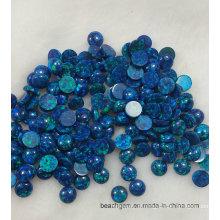 Pierres gemmes bleu opale créé