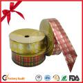 Christmas Plaid Ribbon Roll for Decoration