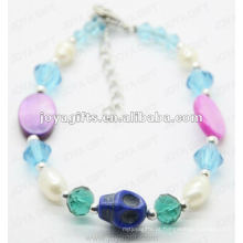 Moda 2012 Joya Blue Beads Anklet De Vidro