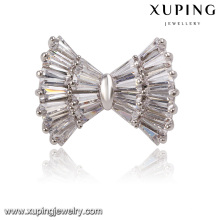 00020 China wholesale jewelry cheap Rhodium plated magnetic brooch for wedding in bulk