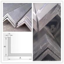 L'aluminium expulsé profile l'angle de forme de L pour la structure