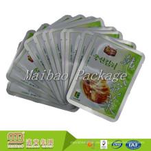 Custon tres lados sellados bolsas de embalaje de envasado de alimentos instantáneos de aluminio de alimentos de grado alimenticio para encurtidos