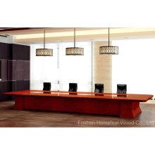Table de réunion en salle de conférence en bois moderne (HF-Ltd128)
