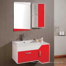 Meuble-lavabo de salle de bains en PVC de 90 cm (6139)