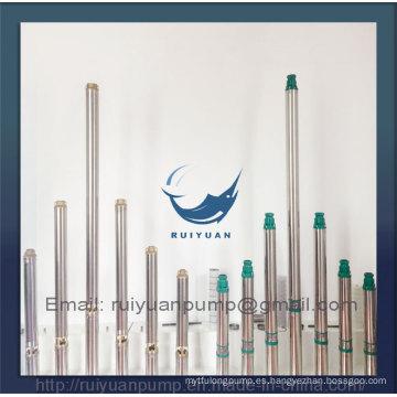 "Alta calidad 4 ""750W 1HP de cobre de alambre profundo pozo sumergible bomba SS agua Pompa"