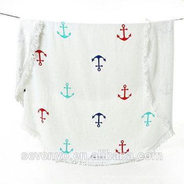 Морской Парус якорь круглый пляжное полотенце БТ-430 Поставщик Китай