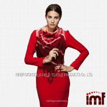 Red Fashion Lady Vintage Scarf Novos produtos quentes para 2014