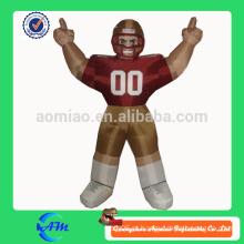 Jogador do bubba do nfl jogador de futebol inflável para a venda desenhos animados personalizados
