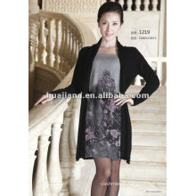 mature ladies sweater dress/ anti-pilling cashmere knitting