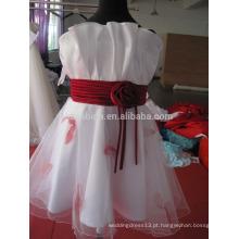 2017 vestido de menina de flor de tuça com fotos reais