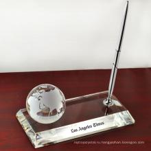 держатель кристалл ручка с кристалл модель 3D карта мира для украшения стола