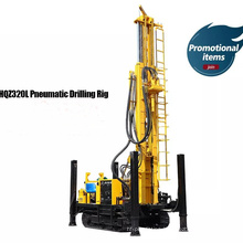 Crawler Portable dth borehole drilling rig with high leg and winch