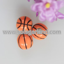 12MM Acryl Orange und Schwarz Basketball Team Sport Perlen