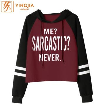 Spring Wanita Long Sleeve Letter Print Hooded Sweatshirts