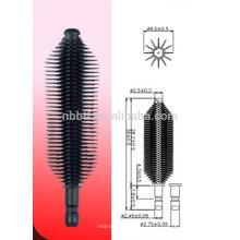 Fibra de silicone tipo escova de máscara para uso de embalagens de cosméticos
