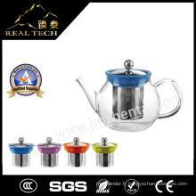 Ensemble de thé à la feuille en vrac en théière en verre à borosilicate 2016 à nouvelle arrivée avec infuseur en acier inoxydable