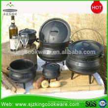 Panela de sopa de ferro fundido da áfrica do sul / caldeirão de ferro fundido