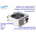 Ventilador de refrigeração de 200W 12cm ATX Power Supply Computador Desktop fonte de alimentação SMPS