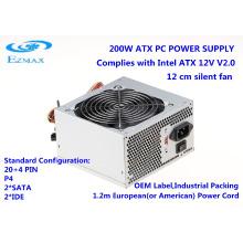 Ventilador de enfriamiento de 200W 12cm fuente de alimentación de ATX fuente de alimentación de computadora de escritorio SMPS