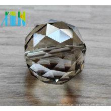 Peças da lâmpada dos cristais do candelabro que penduram a decoração do casamento da bola / bola de cristal lapidada