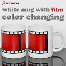 Sublimationsfarbe ändernde Kaffeetasse leer
