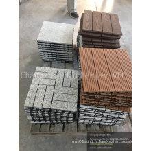 Tuile de bois solide de grain de bois WPC pour le jardin