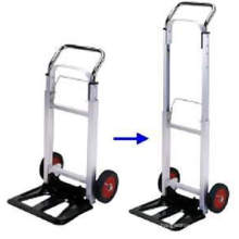 Chariot à main en aluminium, chariot plié