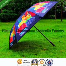 Full Printing Fiberglass Windproof Golf Umbrella with Customerized Logo (GOL-0027FAC)