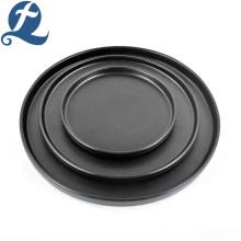 Matte Black Restaurant Plates Set