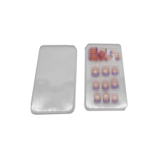 Cosmetic transparent false nail blister tray