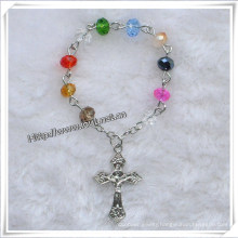 Glass Beads Finger Rosary and Cross Finger Rosary, New Style Beads Rosary (IO-CE071)
