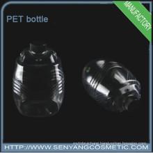 PET plastic transparent bottles special design bottle with cap